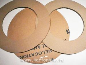 Как сделать круглую фоторамку из картона