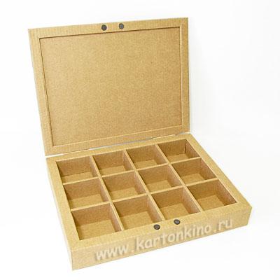 Как сделать коробку с ячейками из картона своими руками 6