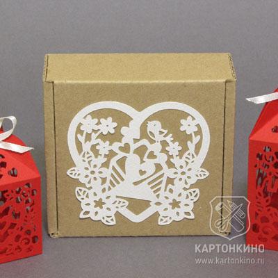 Подарочная коробочка из гофрокартона