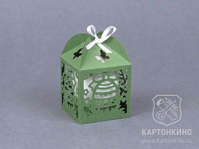 Пасхальные коробочки с резным декором