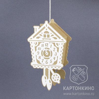 Новогодние часы из бумаги и картона