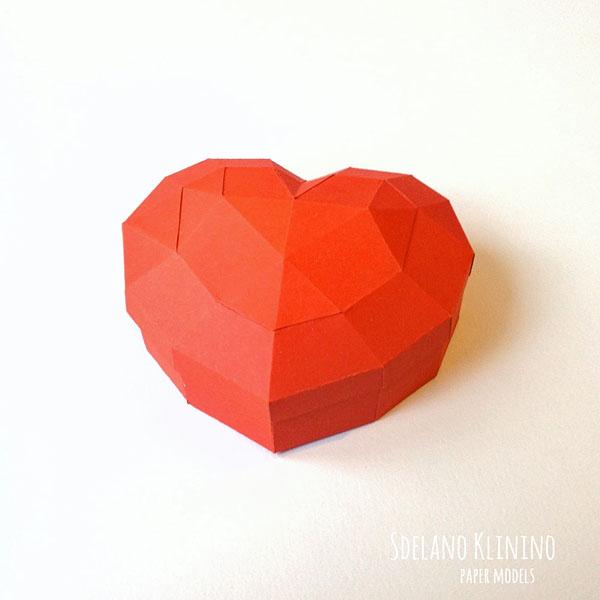 Шкатулка-сердечко из бумаги: мастер-класс