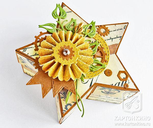 Коробочка в форме звезды на День Победы
